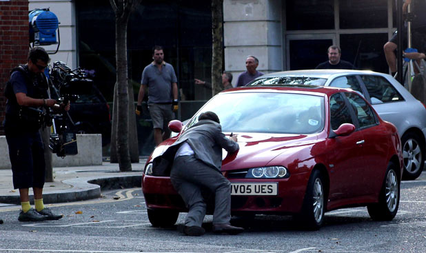 James McAvoy in a road accident