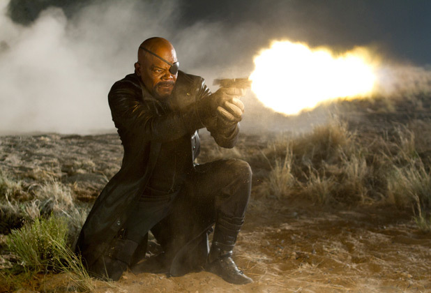 Nick Fury opens fire