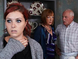Amy is relieved when Eric and Val explain that adopting her is not the best way