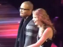 TI and Taylor Swift duet on a version of the rapper's hit 'Live Your Life'.