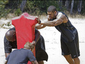 NFL superstars help the contestants work out at the ranch this week.