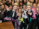 Police cancel Jedward's signing when too many fans descend on the store.