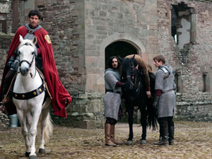 Merlin, Lancelot, Gwaine, Prince Arthur, Sir Leon, Sir Percival and Elyan