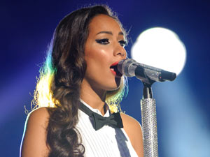Leona Lewis performing at the Michael Forever Michael Jackson tribute concert, held at the Millenium Stadium in Cardiff, Wales.