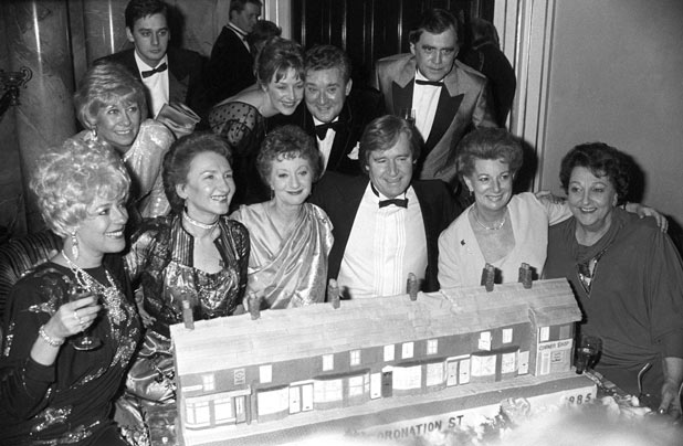 Celebrating Corrie's 25th anniversary in 1985