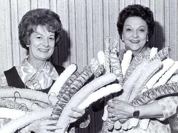 Betty with Jean Alexander in the early days of Corrie