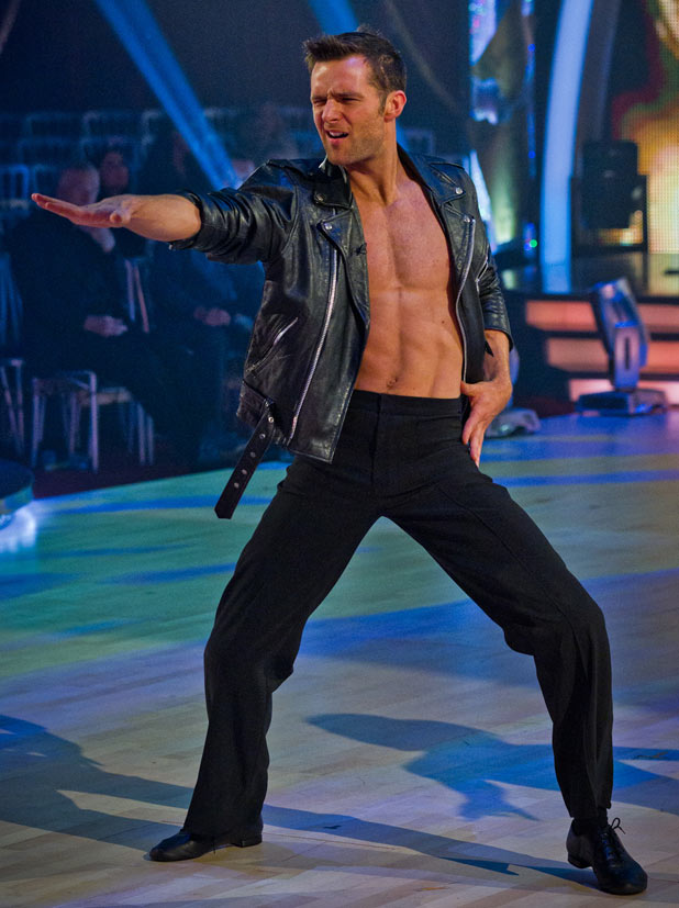 Harry Judd performing 'Grease' on Strictly Come Dancing