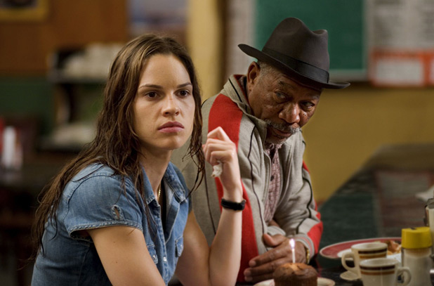 Hilary Swank and Morgan Freeman in 'Million Dollar Baby'