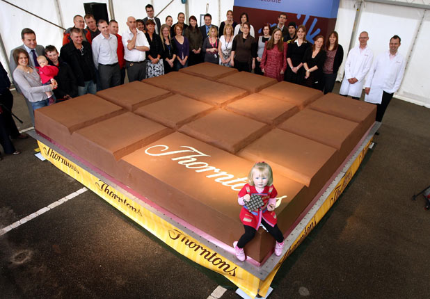 Throntons World's Largest Chocolate Bar