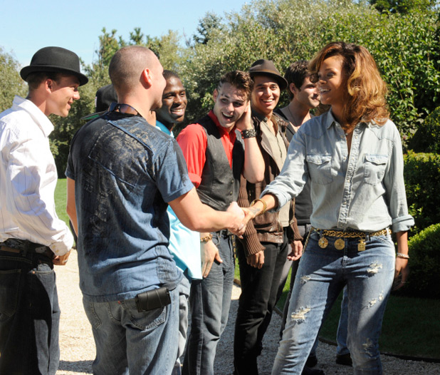 Rihanna and 'X Factor' contestants