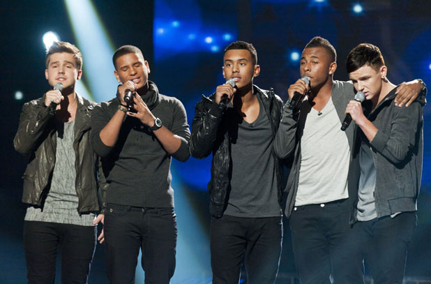 The X Factor 2011 Results Show: Nu Vibe perform after finding themselves in the bottom two