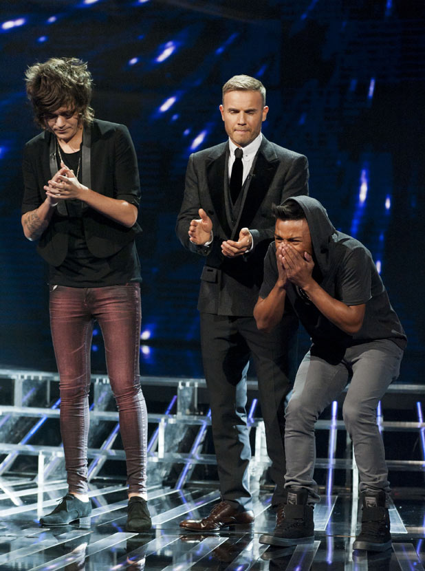 The X Factor 2011 Results Show: Marcus learns he is through to next weeks show