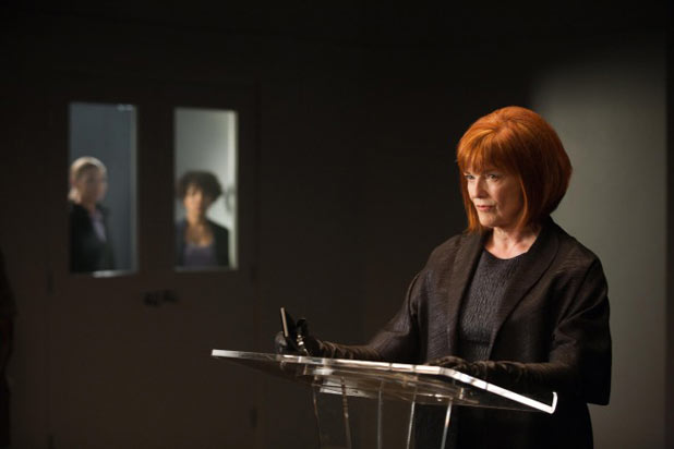 Nina (Blair Brown) delivers a lecture