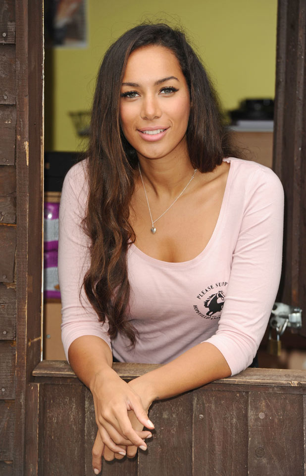 Leona Lewis poses for photos