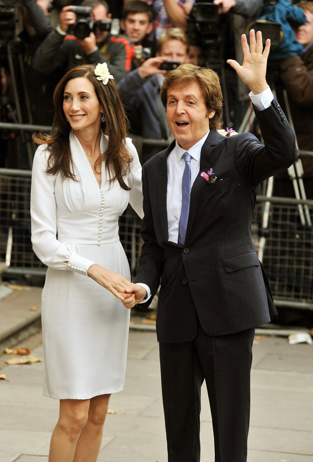 Sir Paul McCartney and Nancy Shevell arrive
