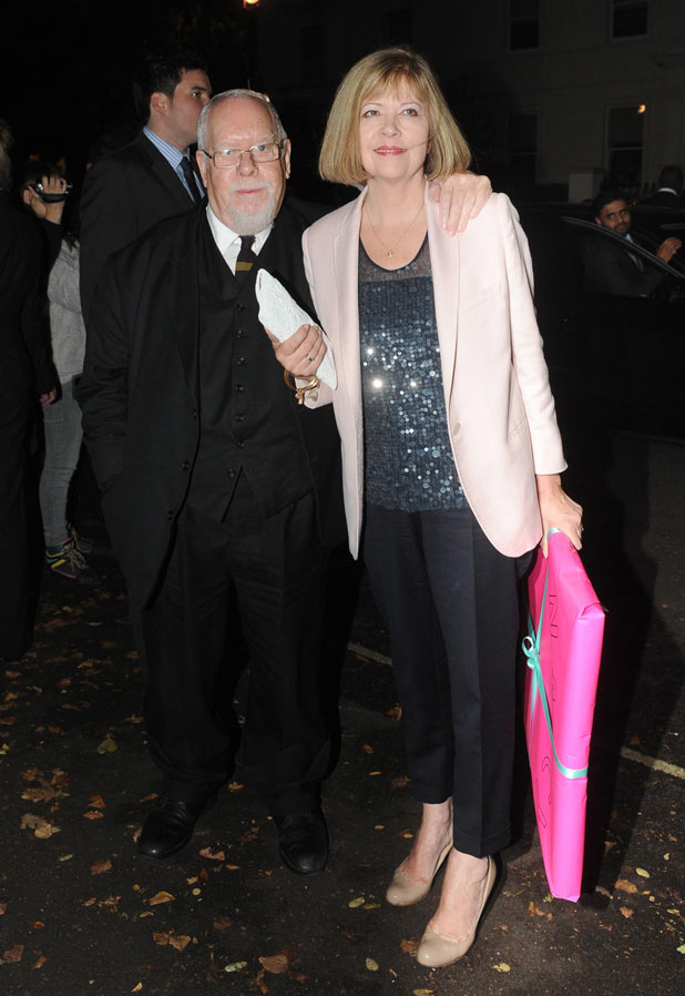Peter Blake and his wife Lady Chrissie Blake