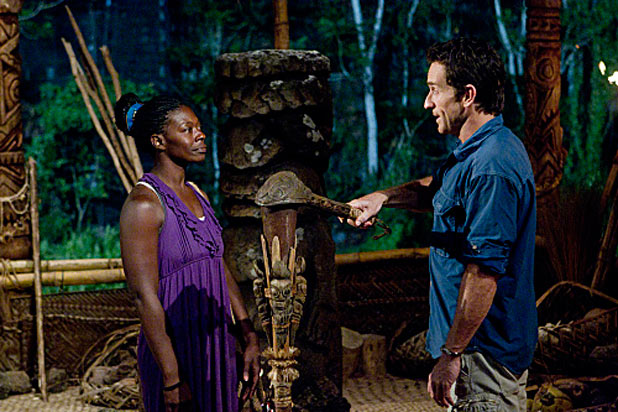 Survivor: South Pacific: S23E04: Stacey Powell and Jeff Probst