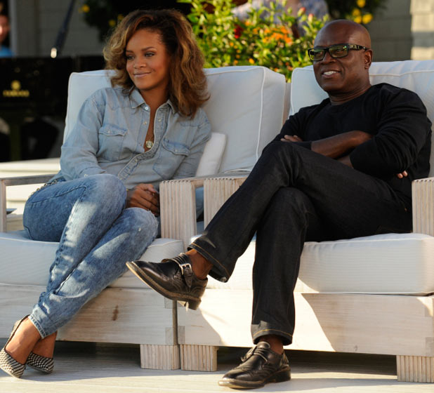 L.A. Reid and Rihanna
