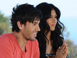 Nicole Sherzinger with guest judge Enrique Iglesias