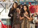 Kim, Kourtney and Khloe Kardashian make an appearance on Next Top Model.