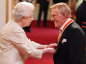 TV entertainment icon honoured at Buckingham Palace.