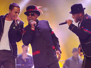 Tito Jackson and JLS perform at the Michael Forever Michael Jackson tribute concert