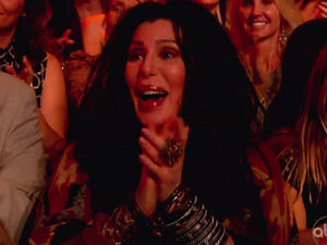 Cher in the audience for Dancing With the Stars