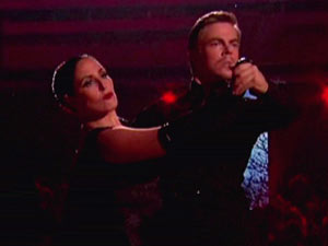 Ricki Lake and Derek Hough performing in Dancing With the Stars