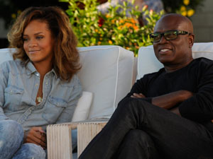 L.A. Reid with guest Judge Rihanna