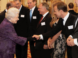 The Queen and Jason Donovan