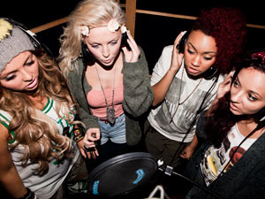 Rhythmix recording 'Wishing On A Star' the X Factor charity single