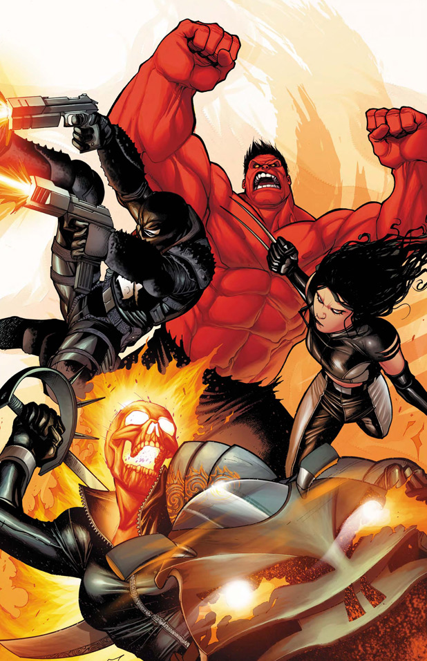Venom, Red Hulk, X-23, Ghost Rider