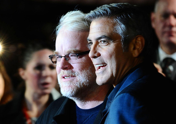 George Clooney and Philip Seymour Hoffman