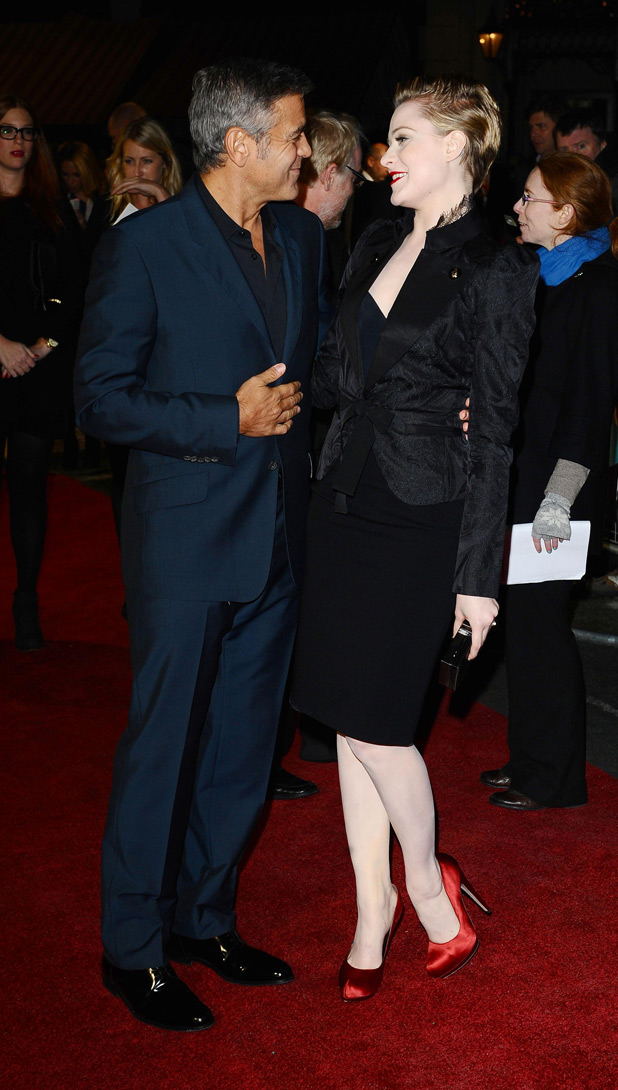 George Clooney and Evan Rachel Wood