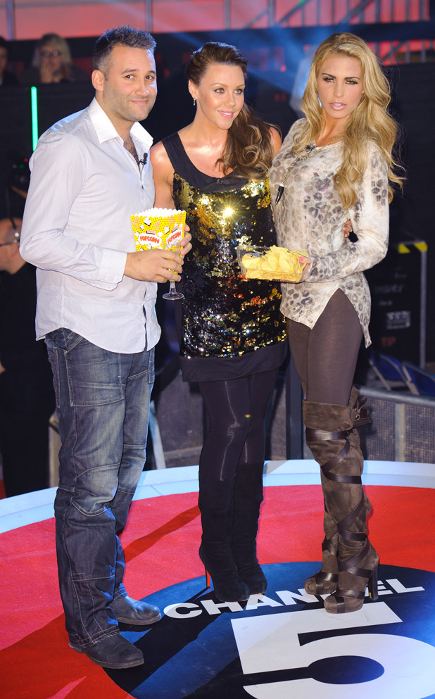 Katie Price, Michelle Heaton and Dane Bowers