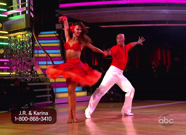 DWTS S13E09: 80s Night: Karina Smirnoff and J.R. Martinez