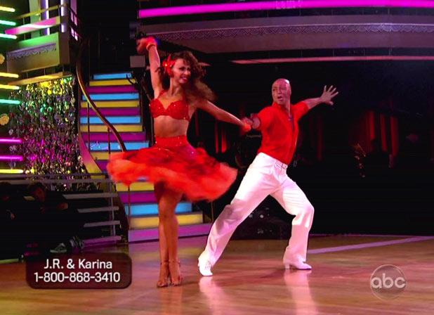 DWTS S13E09: 80s Night: Karina Smirnoff and J.R. Martinez