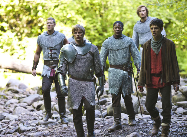 Sir Percival (TOM HOOPER), Prince Arthur (BRADLEY JAMES) , Elyan (ADETOMIWA EDUN), Sir Leon (RUPERT YOUNG), Merlin (COLIN MORGAN)