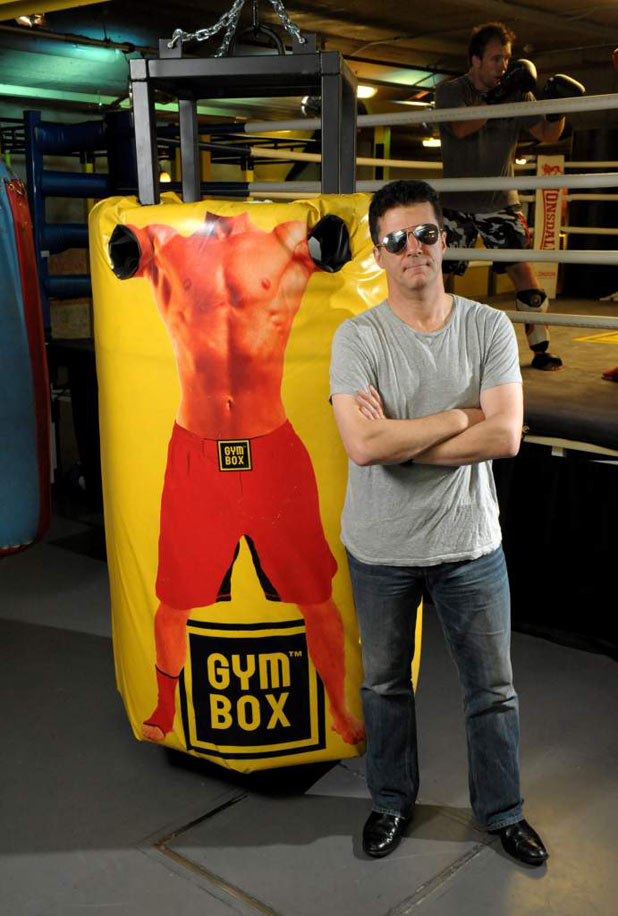 Simon Cowell and the Gymbox human punch bag