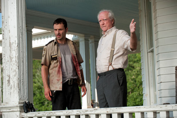 Hershel Greene (Scott Wilson) and Rick Grimes (Andrew Lincoln)