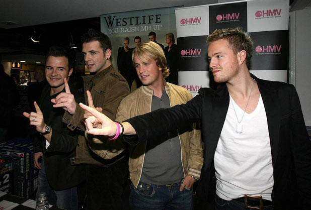 Westlife promote their new album Face to Face
