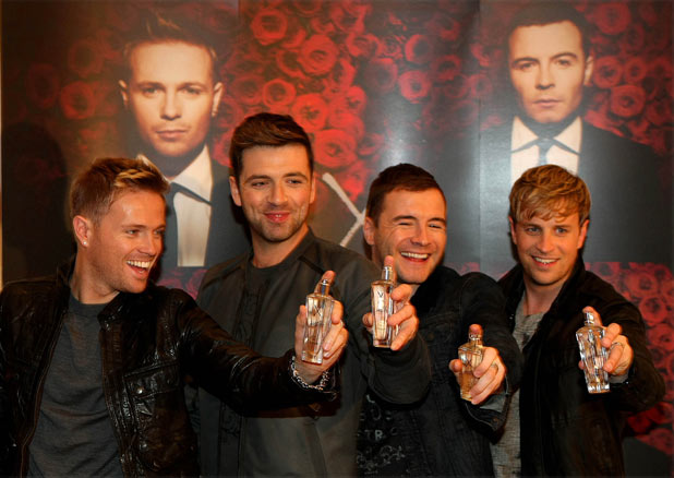 Westlife at the launch of their new perfume 'Westlife X'