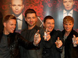 Westlife  at the launch of their new perfume 'Westlife X' at a photocall in the Four Seasons Hotel Dublin