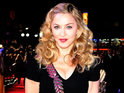 Madonna is joined by stars Andrea Riseborough, James D'Arcy and Katie McGrath in Leicester Square.