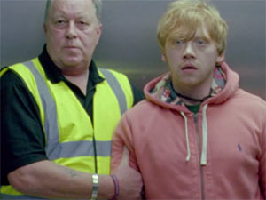 Rupert Grint in Ed Sheeran's 'Lego House' video