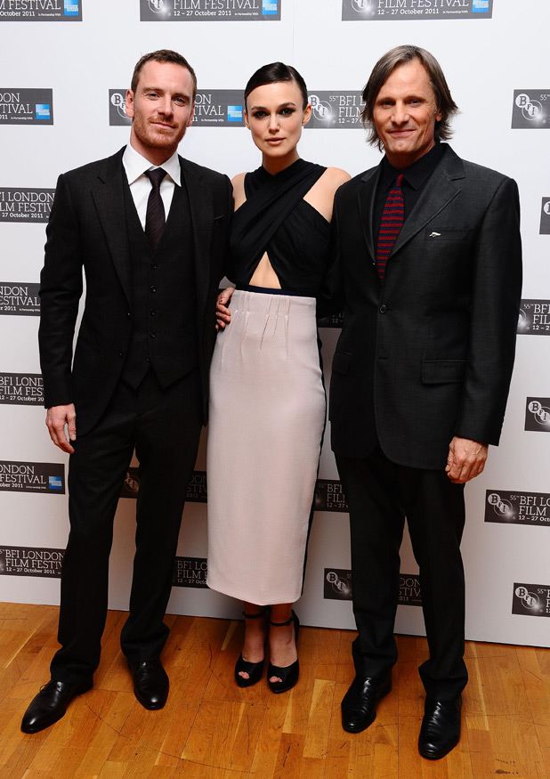 Michael Fassbender, Keira Knightley and Viggo Mortensen