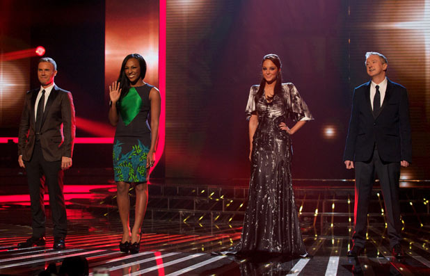 The X Factor Results Show: The judges & Alexandra Burke