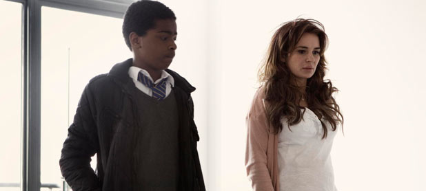 Ra&#39;nell (Malcolm Kamulete) & Heather (Kierston Wareing) in &#39;Top Boy&#39;