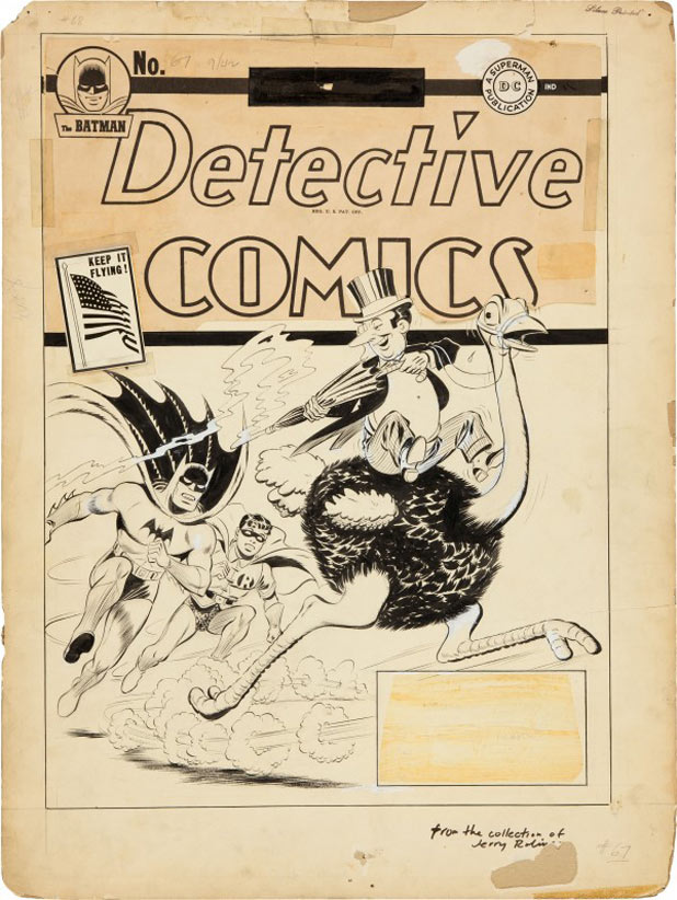 &#39;Detective Comics&#39; Issue 67 cover designed by Jerry Robinson