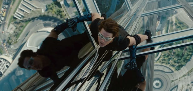 Tom Cruise as Ethan Hunt in 'Mission Impossible Ghost Protocol'